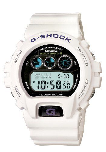 Casio Men's GW6900A-7 G-Shock White Atomic Digital Sport Watch Casio. $130.00