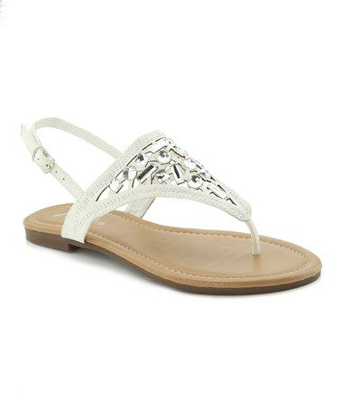 Loving this White Mosaic Holly Sandal on #zulily! #zulilyfinds