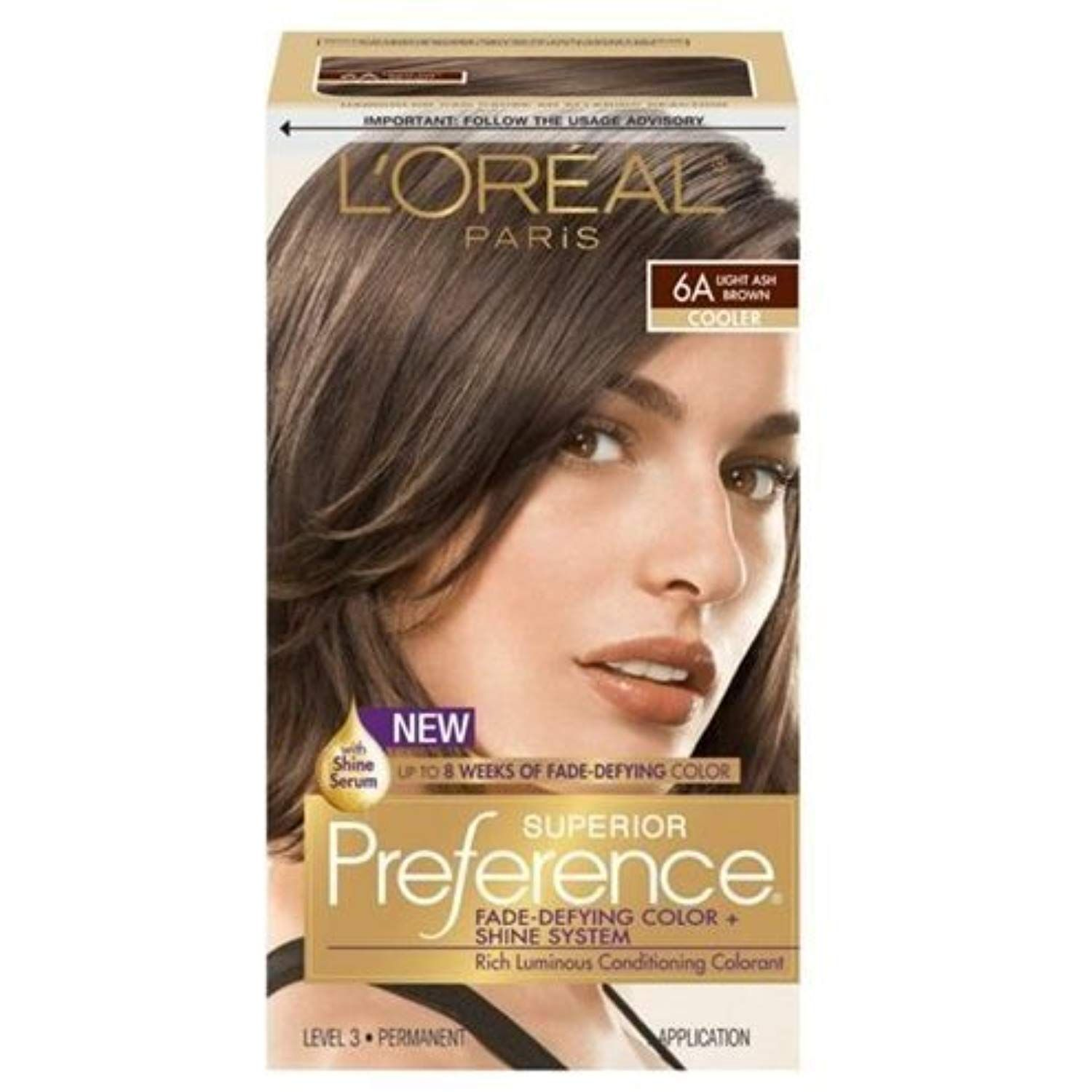 Loreal Superior Preference 6a Light Ash Brown Pack Of 3