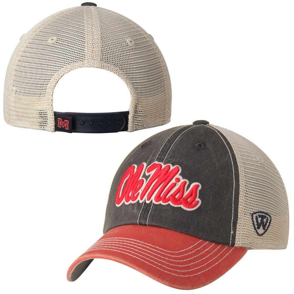 NCAA Zephyr Mississippi Old Miss Rebels Mens Tailored Stretch Hat Grey Medium//Large
