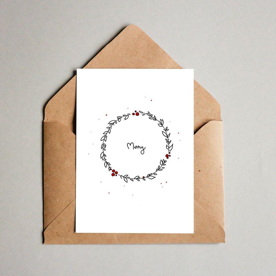 Printable Christmas Cards・Merry・ 3.33€