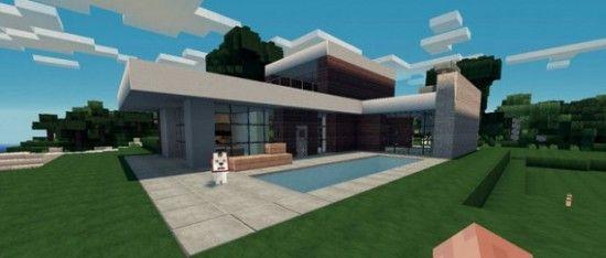 Pin de omayra torres en dise o de casas for Como hacer una casa moderna y grande en minecraft 1 5 2