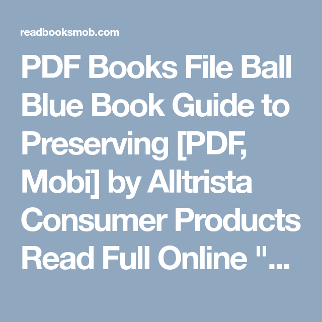 preserving pdf ball blue book guide to