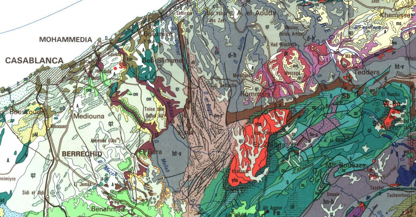 A portion of the Geologic Map of