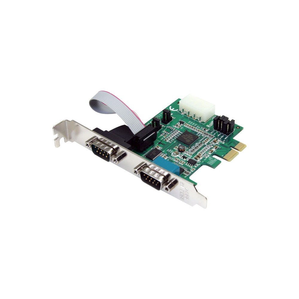 small resolution of startech 2 port pci express serial adapter card 2 x 9 pin db 9 male rs 232 serial
