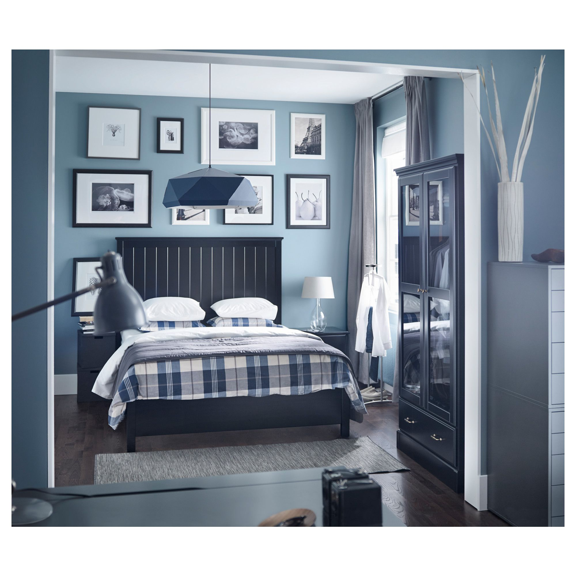 IKEA - UNDREDAL Bed frame black, Espevär | Bed frames and Products