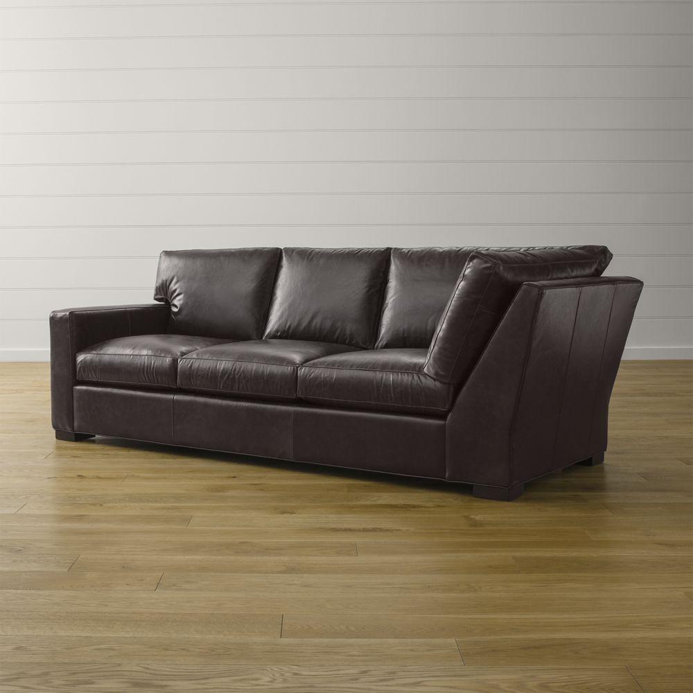 Axis ii leather left arm corner sofa also lyre chesterfield two cushion den joseph st pinterest rh