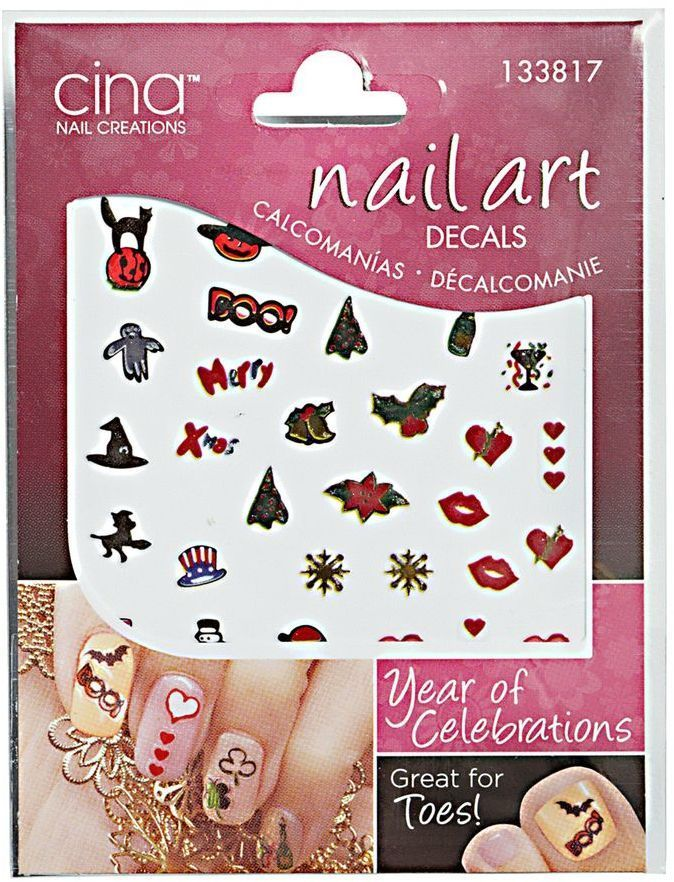 Cina Nail Creations Year Of Celebrations Exotica Art Decals Nailart Affiliate
