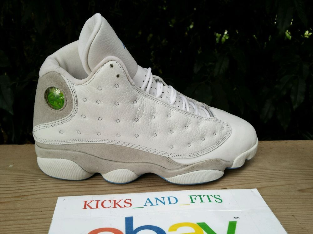 reputable site 6ecdf fe21c 2004 Nike Air Jordan XIII 13 Retro 8 White Grey Carolina Blue RIGHT SHOE  ONLY OG  Nike  BasketballShoes