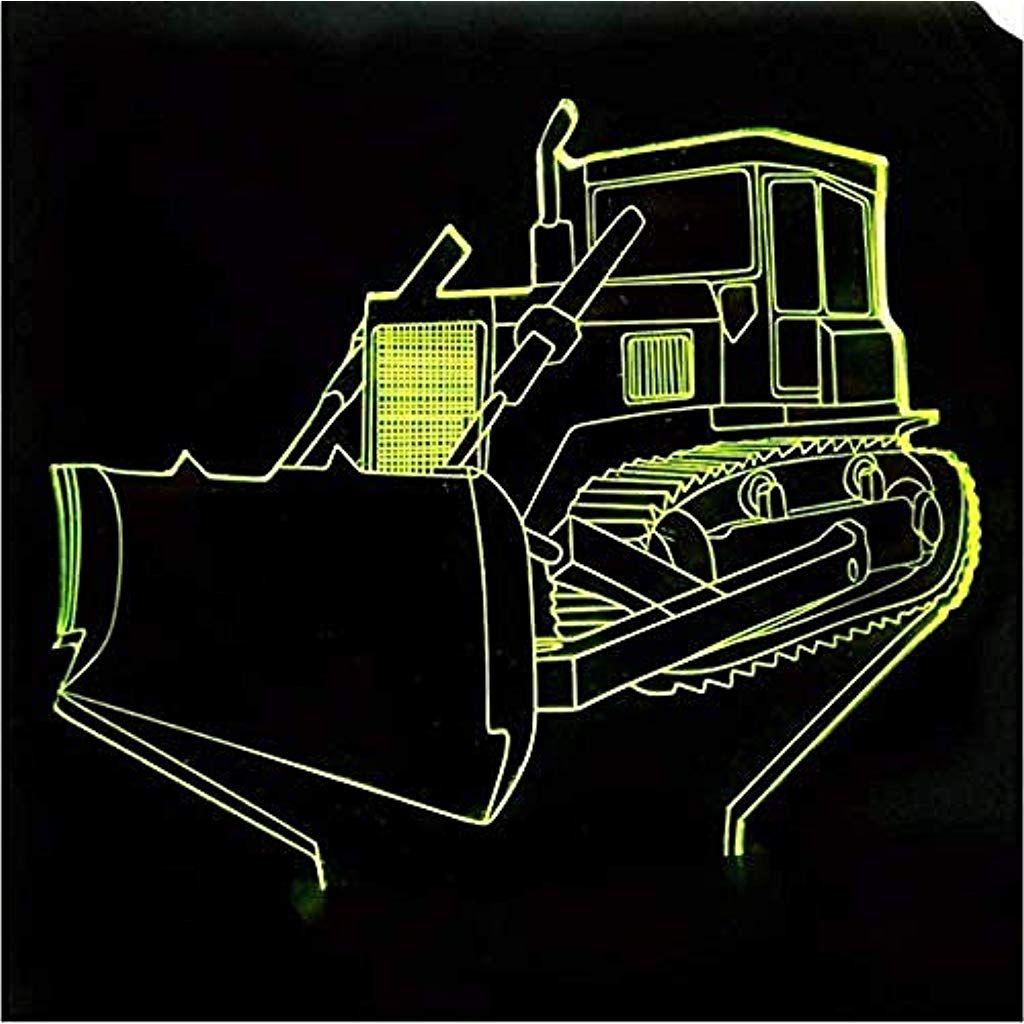 Bulldozer Traktor Lkw Auto 3d Nachtlicht 7 Farbwechsel Schreibtisch Tisch Acryl Schreibtischlampe Abs Basis Usb Basis In 2020 Schreibtischlampe Nachtlicht Farbwechsel