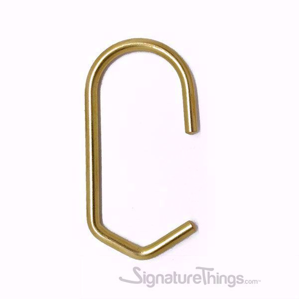 Ancient Rome Jewelry Shape Shower Curtain Ring Hook Hanger Set of 12Pcs
