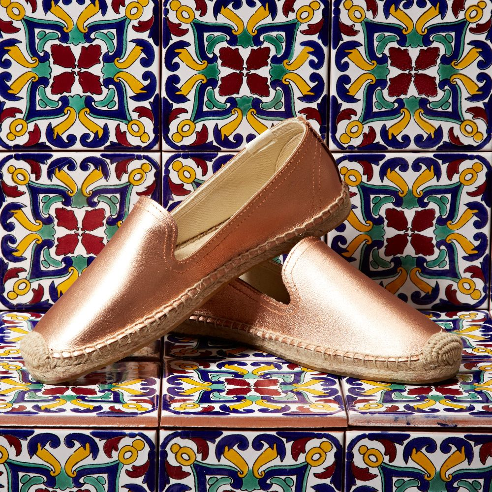 0ebd385404d You can never go wrong with Soludos Jupiter Leather Smoking Slipper in rose  gold