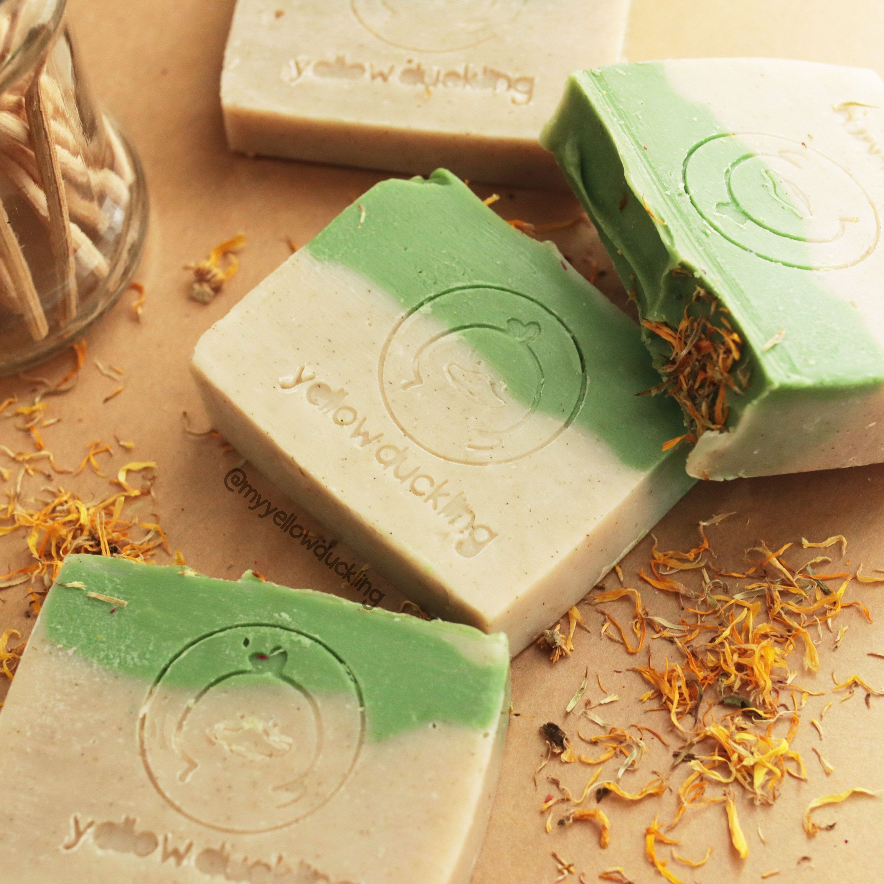 Handmade Natural Soap in Mojito Mint scent with fragrance