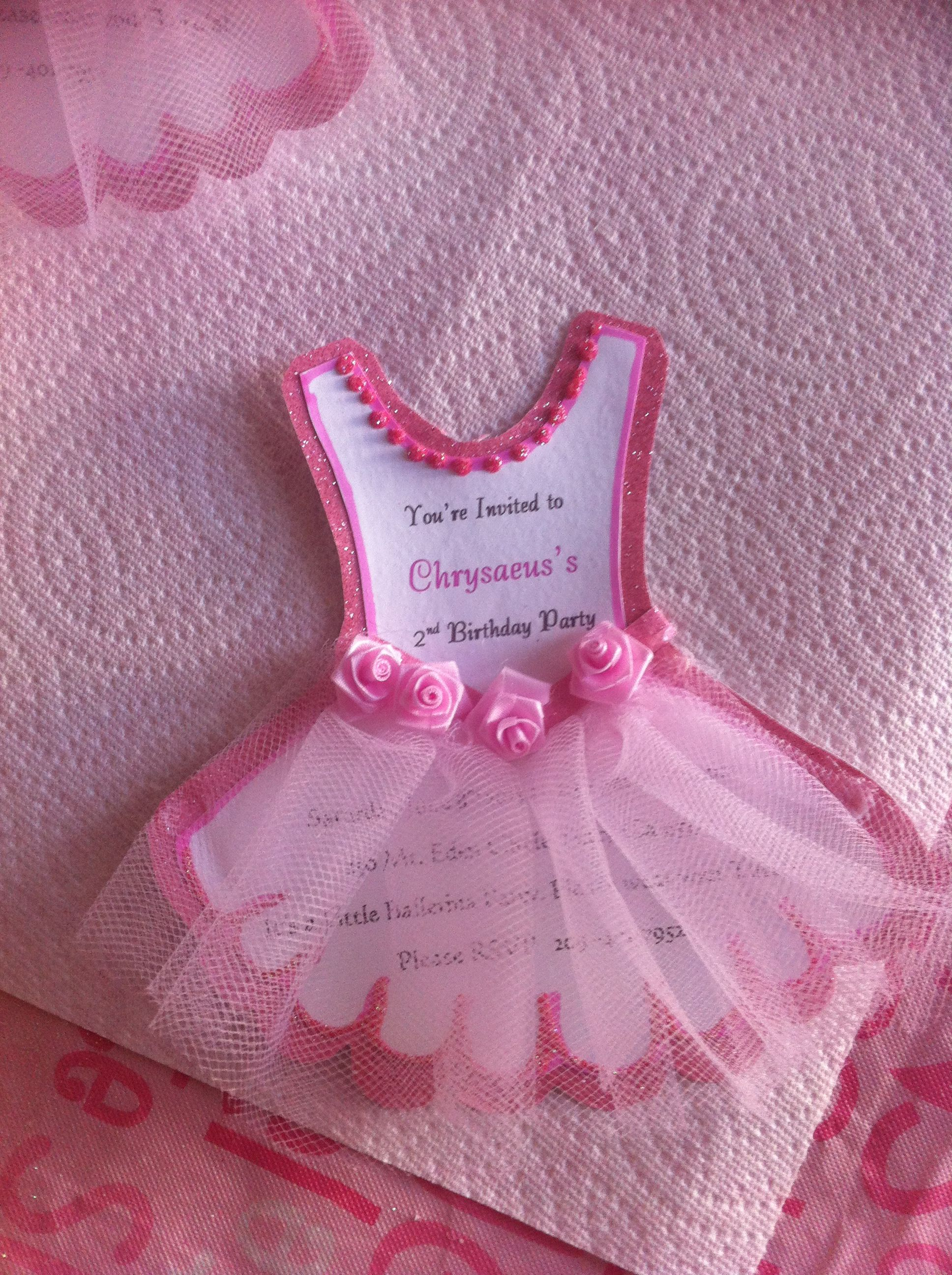 Chrysaeus\'s ballerina invitations! | babyshower ideas | Pinterest ...