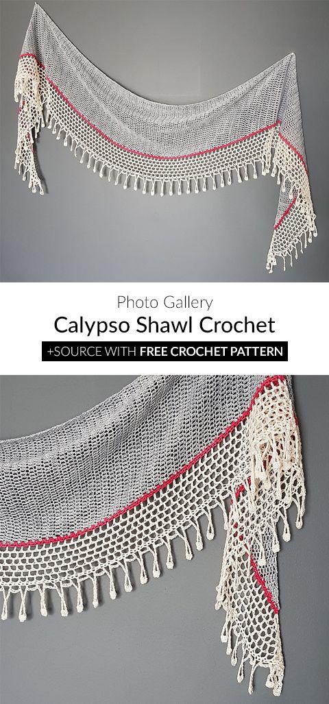 Calypso Shawl Crochet Häkeln Pinterest