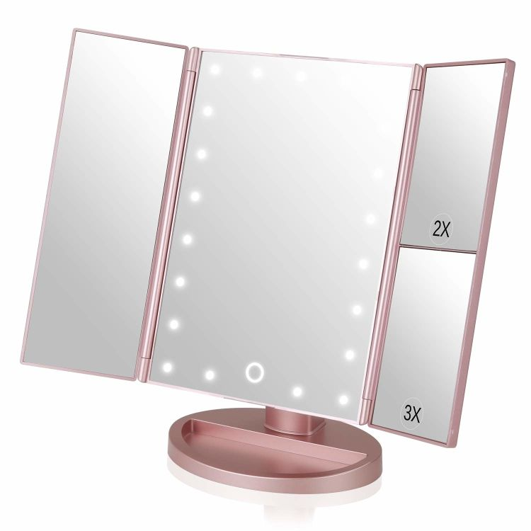 Win A Vanity Led Tri Fold Hollywood Style Makeup Mirror With