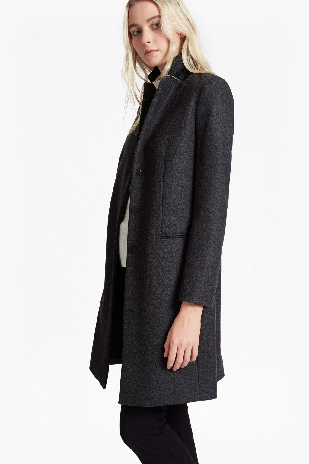 Platform Felt Wool Coat | Sale | French Connection Usa