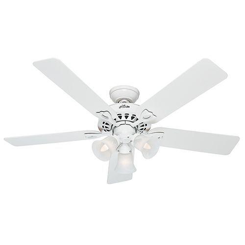 The Sontera White Three Light 52 Inch Ceiling Fan With Remote Ceiling Fan With Light Ceiling Fan White Ceiling Fan