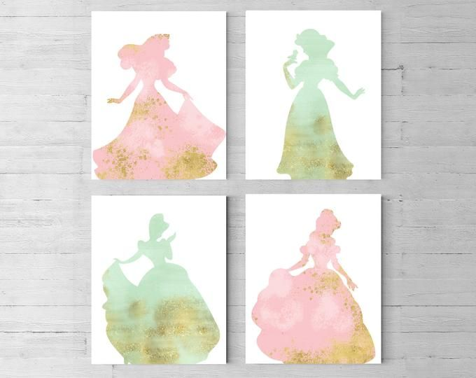 Disney princess Ariel Set of 6 Princess Nursery Disney