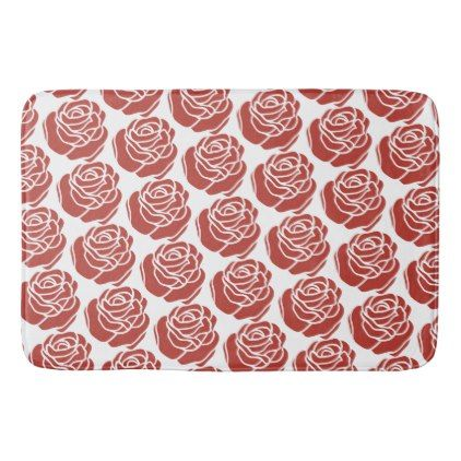 Red Roses   Bath Mat   Home Gifts Ideas Decor Special Unique Custom  Individual Customized Individualized