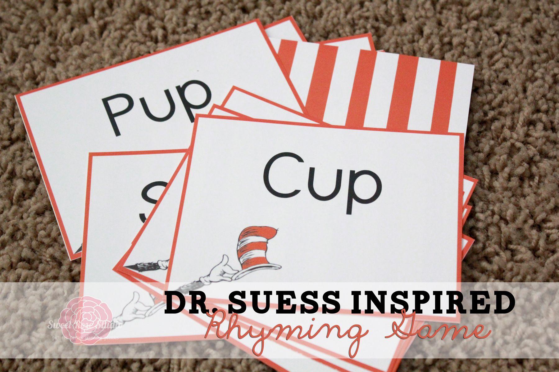 Dr Seuss Inspired Rhyming Game