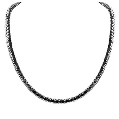 Mens Black Diamond Chain Necklace In 13 Carat For Sale Online Black Diamond Chain Black Diamond Necklace Black Necklace