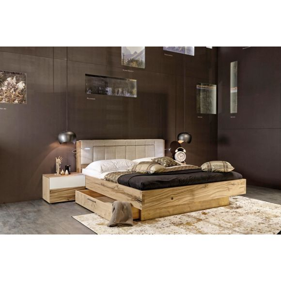 rustikales bett schlafzimmer pinterest. Black Bedroom Furniture Sets. Home Design Ideas