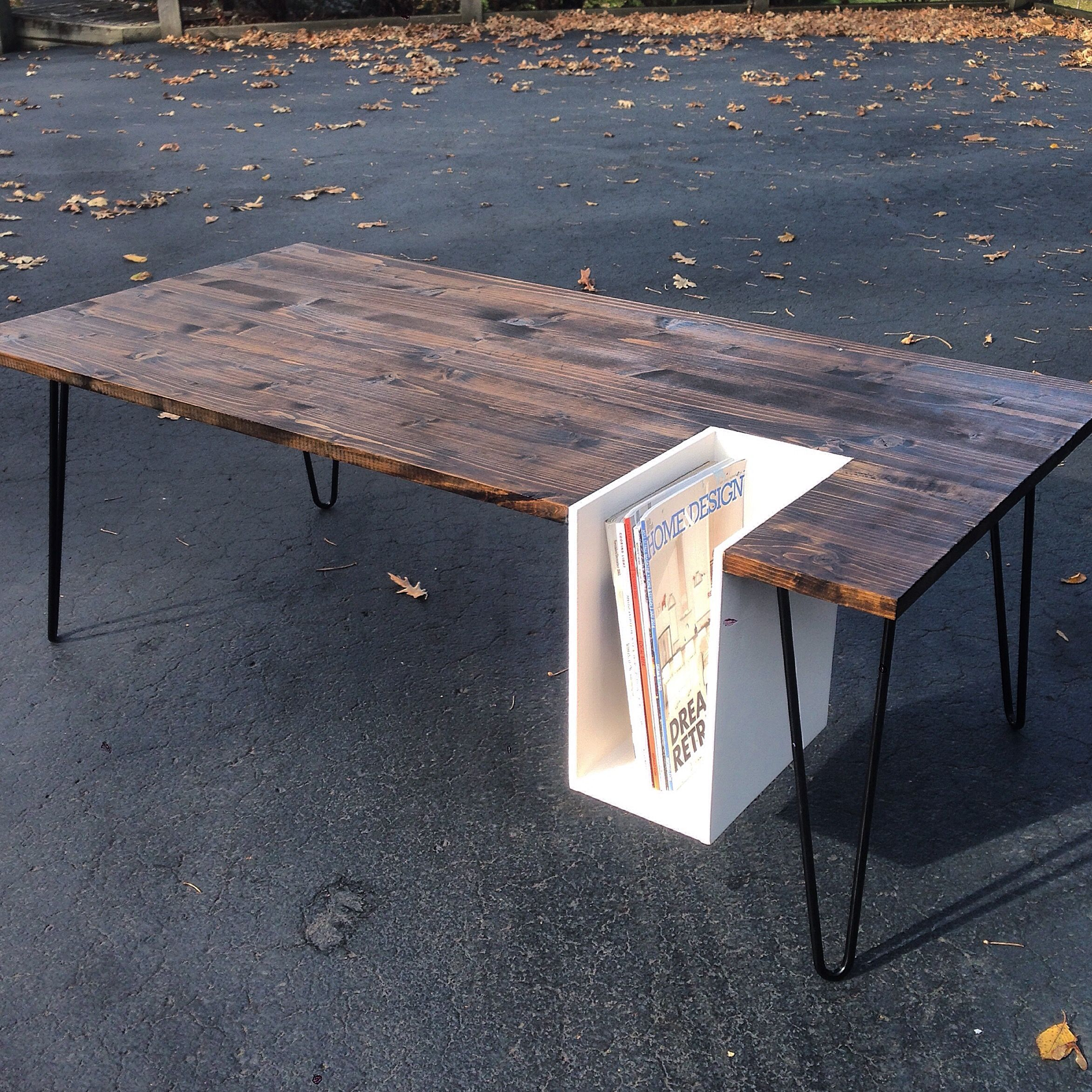 My latest build coffee table with magazine cubby