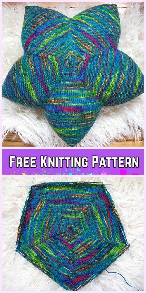 Knit Star Pillow Free Knitting Patterns   Knitting patterns ...