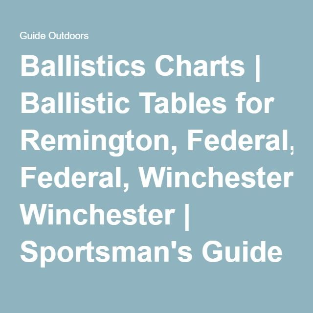 Remington Ballistics Chart