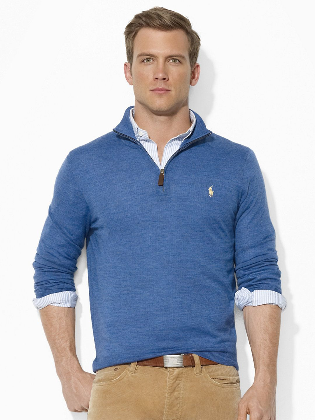 Polo Ralph Lauren Merino Wool Half-Zip Sweater   What my future ... 0369b7357d1e