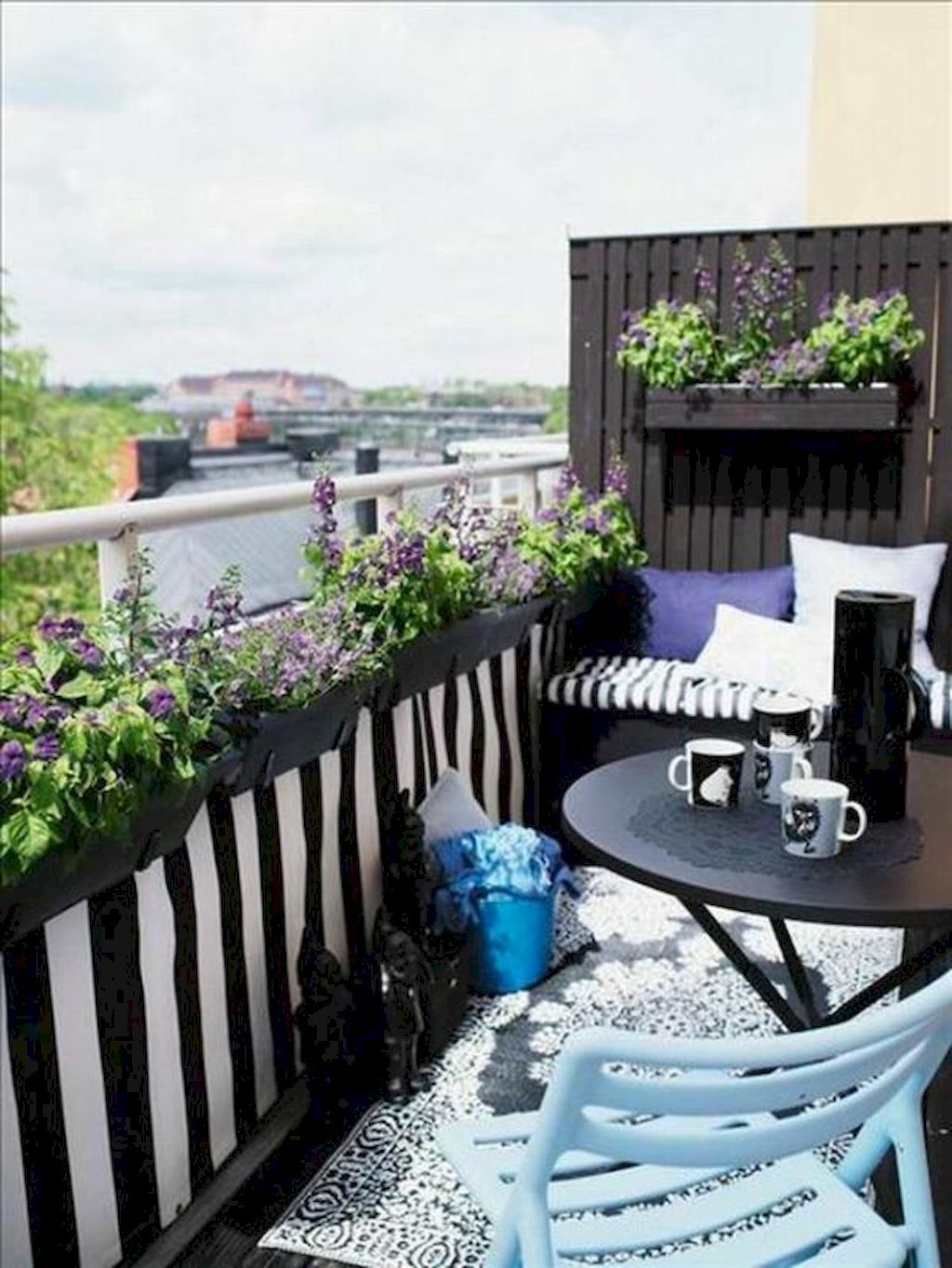 72 Smart Balcony Designs Ideas with Scandinavian | Balcony design ...