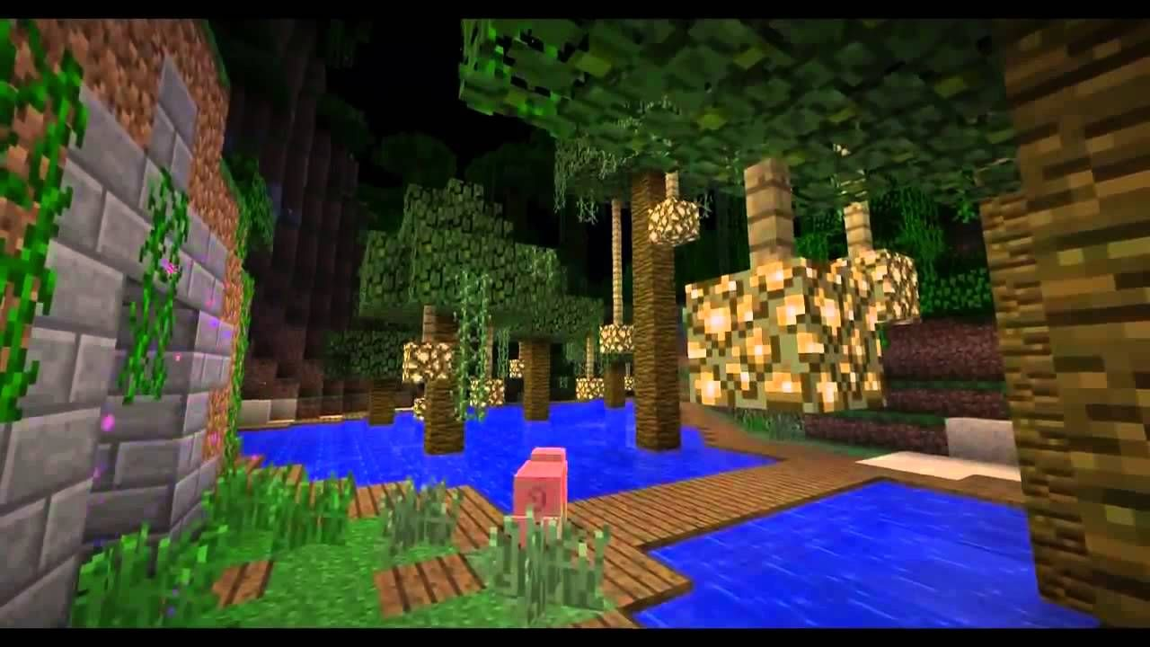 Cool Jungle With Glowstone Minecraft House Designs Minecraft