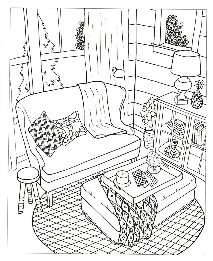 The Inspired Room Coloring Book Creative Spaces to