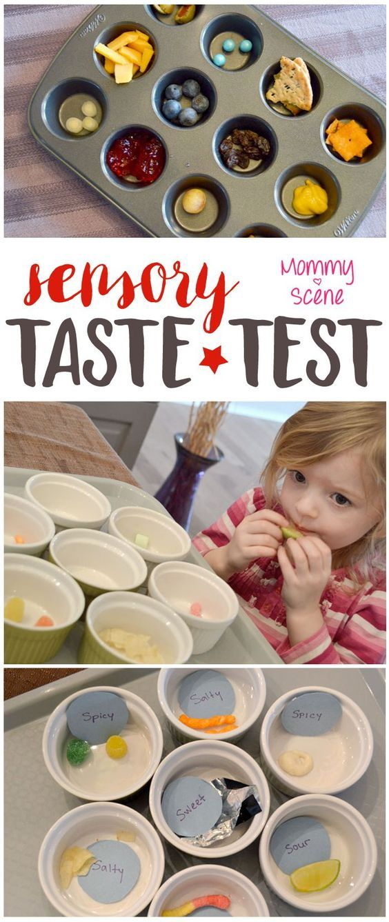 setting up a food taste test is a fun way to teach a preschooler about the