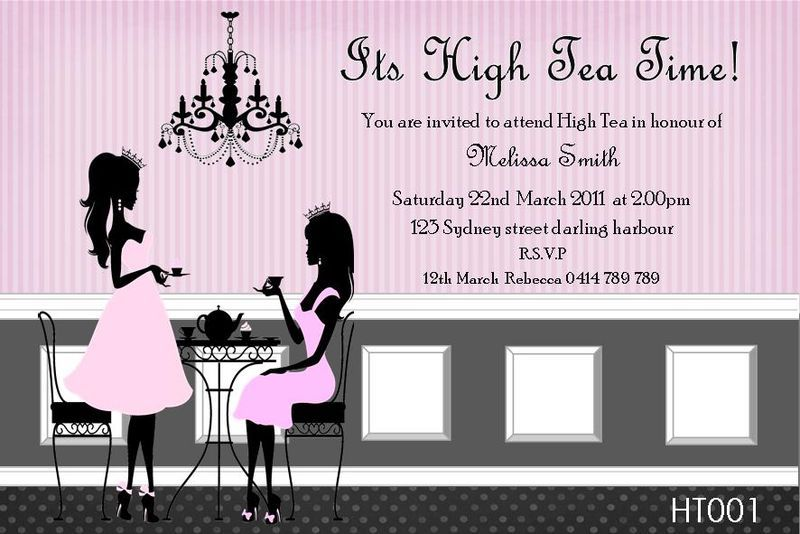 Invitation to High Tea Party