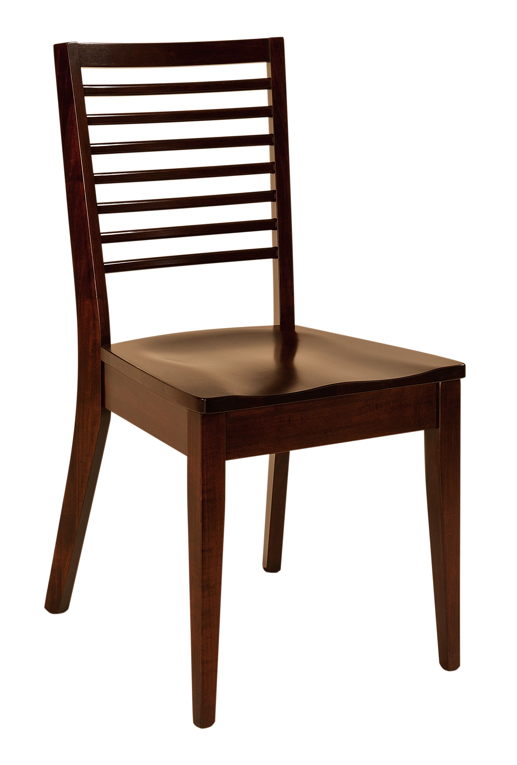 The Bancroft dining chair is shown in Brown Maple The Bancroft