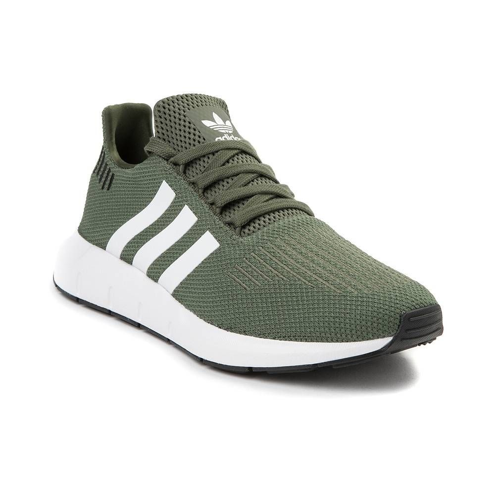 944250ec9 Womens adidas Swift Run Athletic Shoe - Olive White Black - 436657   athleticshoes