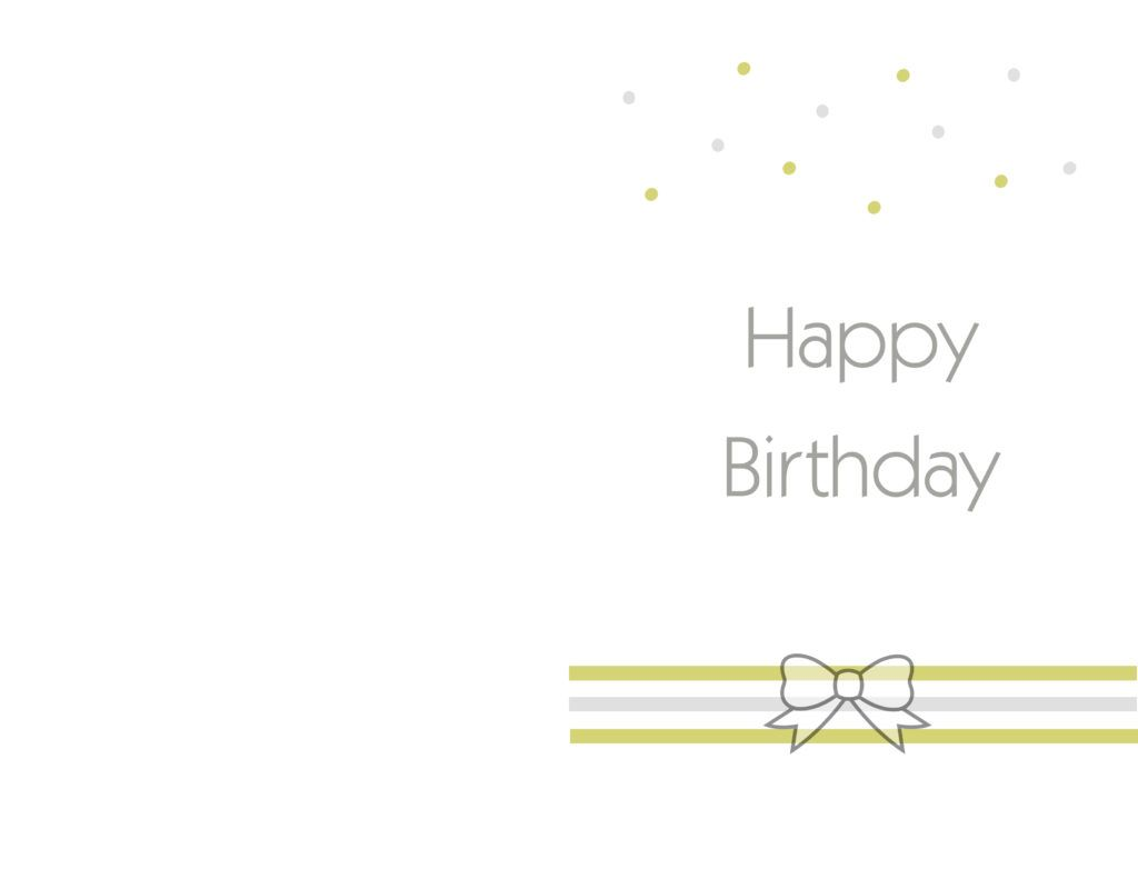 printable greeting card templates – Birthday Card Layout