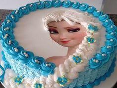 Elsa Eiskönigin Torte · Eiskönigin TorteElsa EisköniginOhneEiskönigin  GeburtstagSchöne KuchenTolle TortenKreative ...