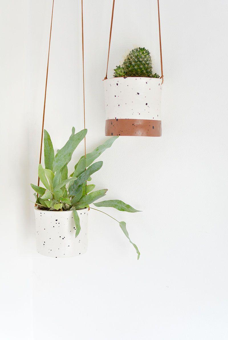 Delightful Ceramic Hanging Planters Indoor #13: DIY. Diy Hanging PlanterCeramic PlantersIndoor ...