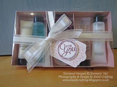 Hand made Gift Box, Chalk Talk Stamp Set and Organza Ribbon from Stampin' Up!
