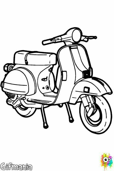 Scooter Motor Desenho Moto Vespa Scooters Vespa Vintage