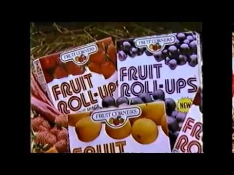 the first fruit roll ups commercial from the 80 s you may remember this one they keep referring to the as fruit corners fruit roll ups