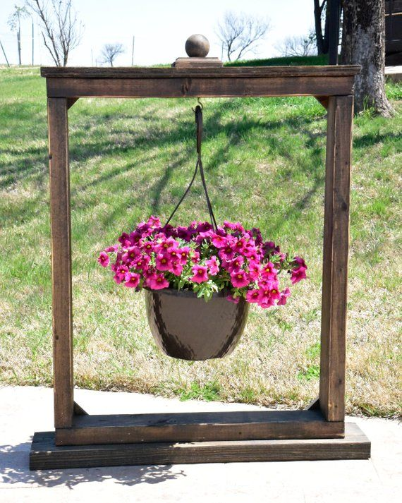 Rustic Hanging Plant Stand | Hanging plants, Plants ... on Hanging Plant Stand Ideas  id=85166