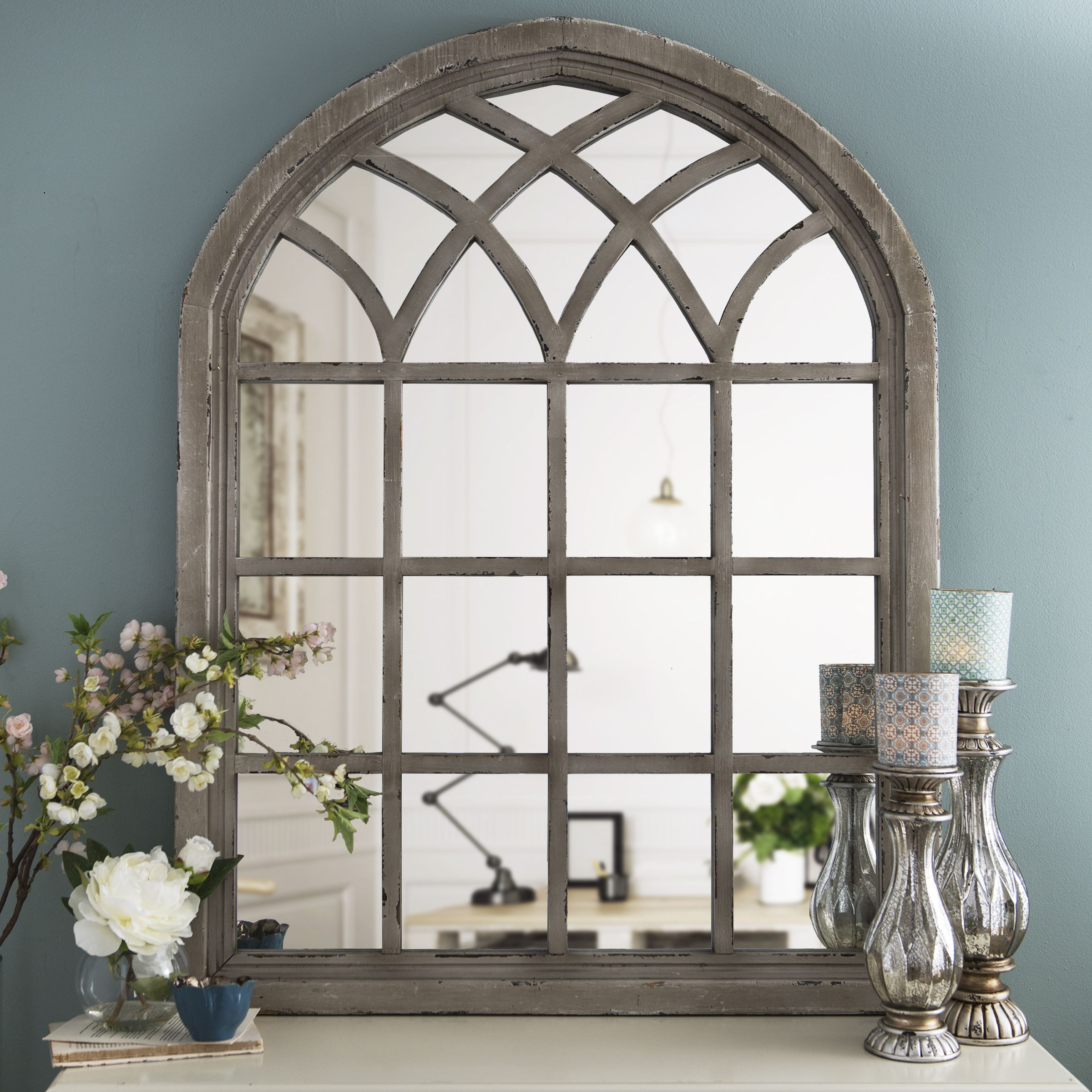 distressed cream sadie arch mirror arch mirror arch and rustic