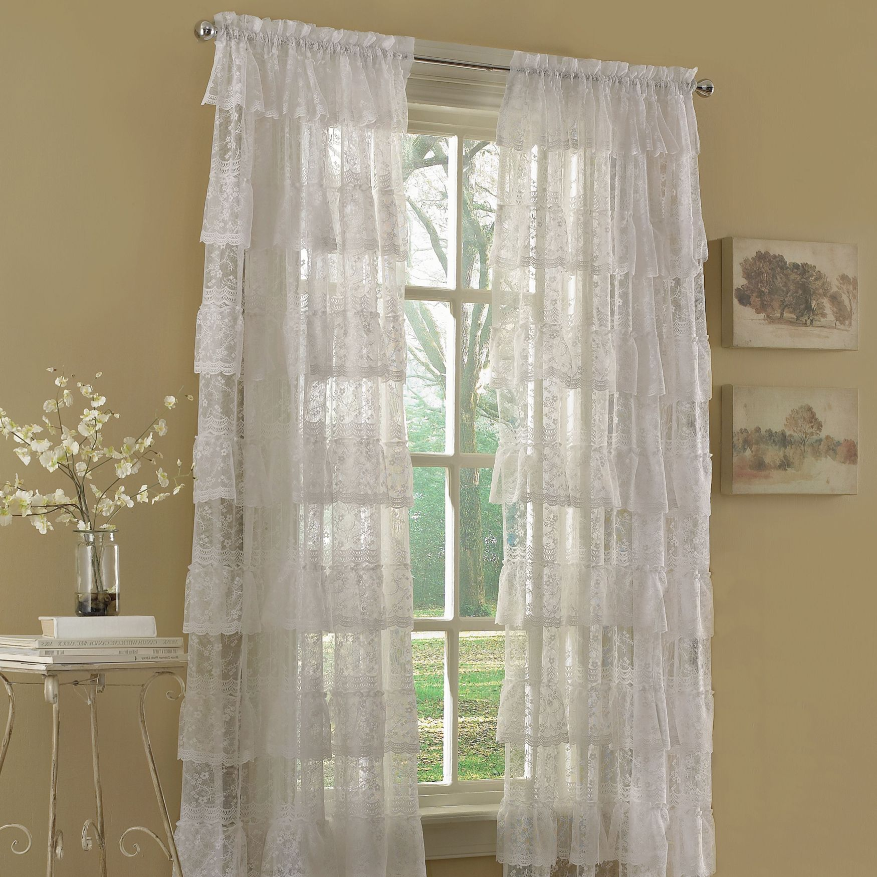 Priscilla Bridal Lace Panels Curtains Drapes