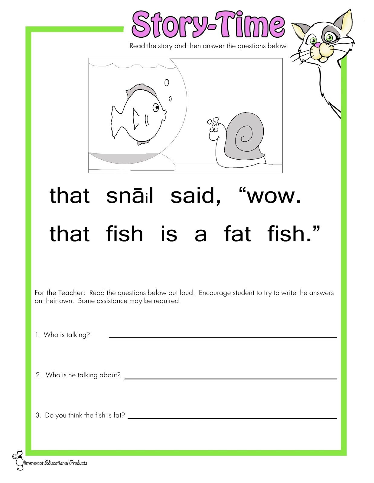 Phonics Reading Comprehension Stories Learning How