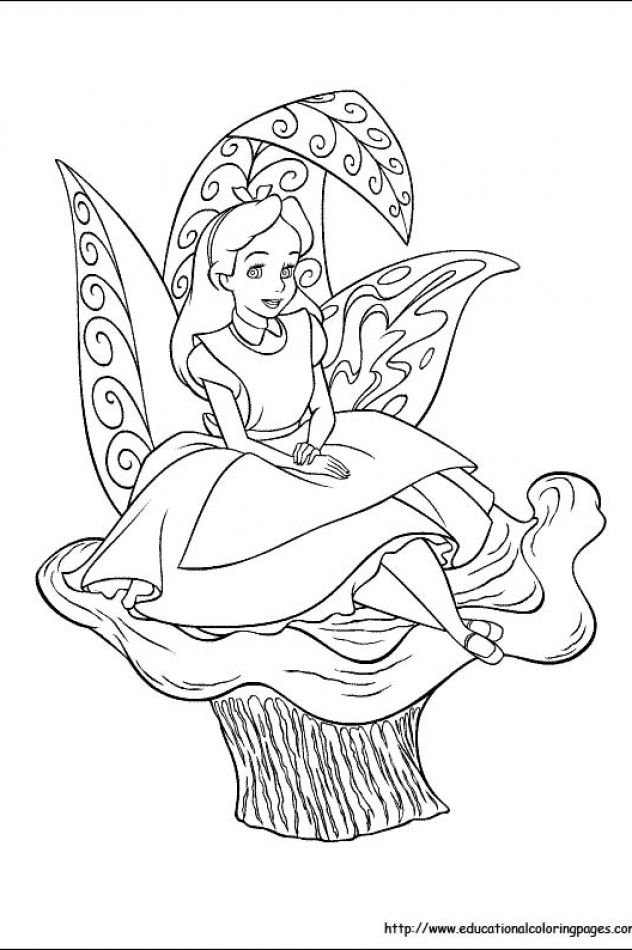 Alice in Wonderland | Educational Fun Kids Coloring Pages and ...