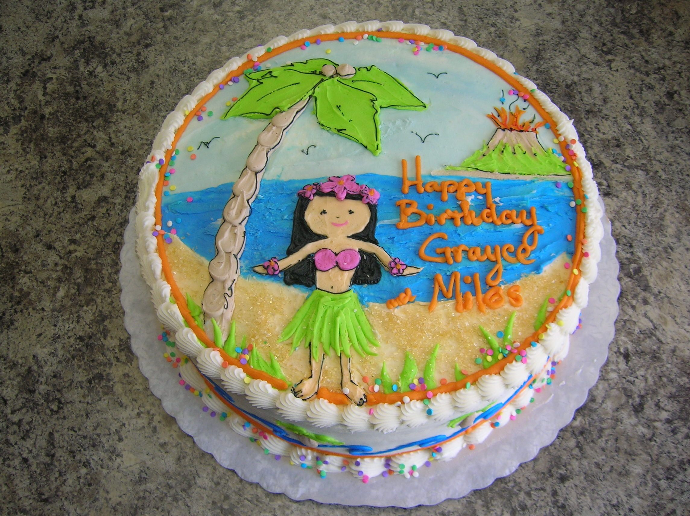 beach lua cakes Veronicas Sweetcakes 16 kids hawaiian beach
